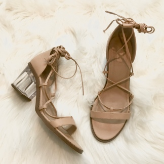 Tie-Up Nude Sandals from Forever 21