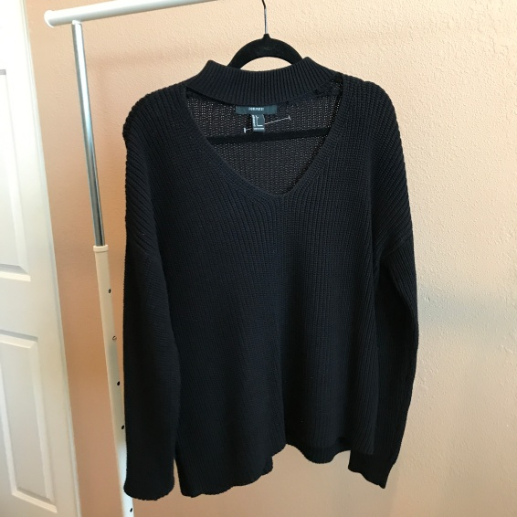 Black Knit Sweater from Forever 21