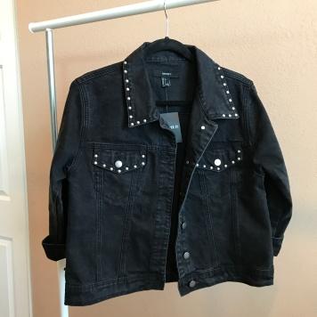 Black Oversized Denim Jacket