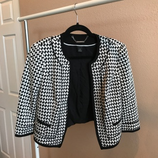 Houndstooth Blazer from White|Black