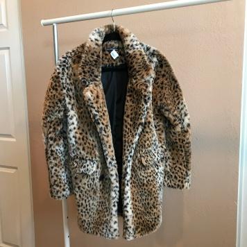 Leopard Faux Fur Coat from Brandy Melville
