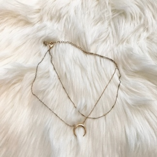 Gold Crescent Choker Necklace from Forever 21